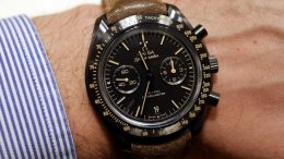 Mains Sur Replique Montre Omega Speedmaster Dark Side of the Moon Vintage Black