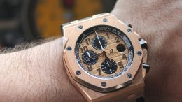 Replique Montre Audemars Piguet Royal Oak Offshore Or Rose Pas Cher