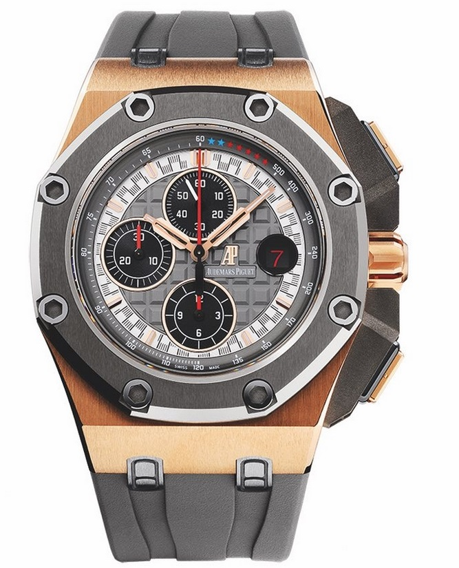 Replique Montre Audemars Piguet Royal Oak Offshore Michael Schumacher Or Rose