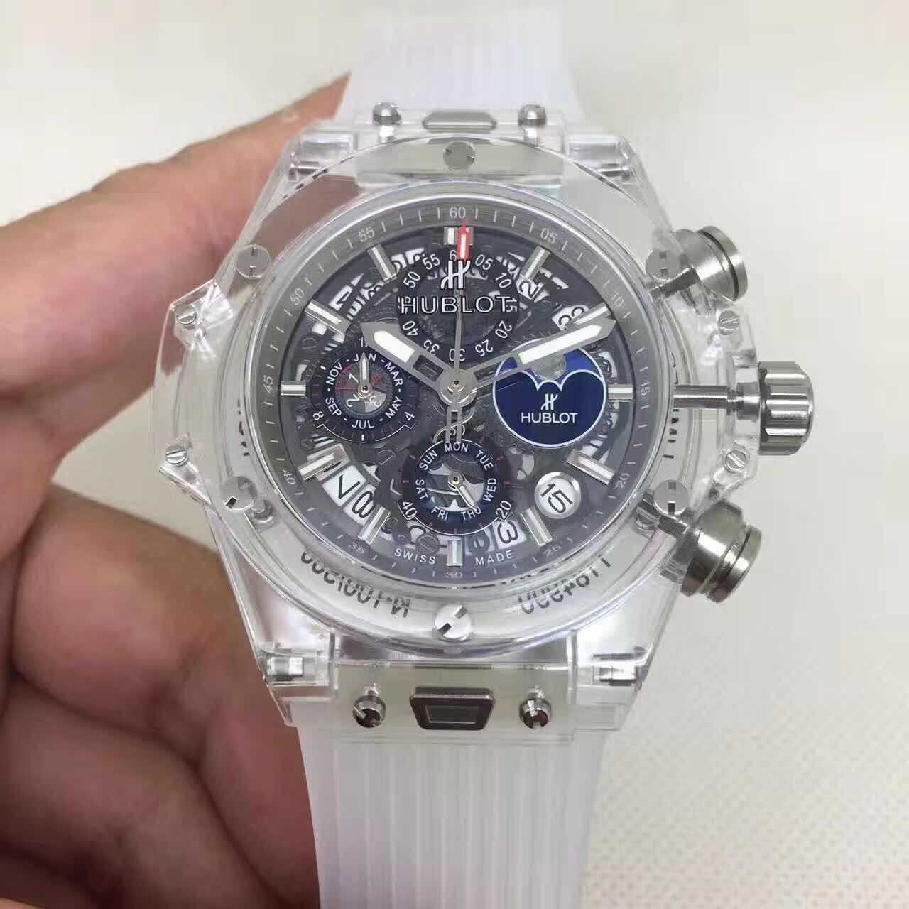 Replique Montre Hublot Big Bang Unico Sapphire Calendrier Perpétuel