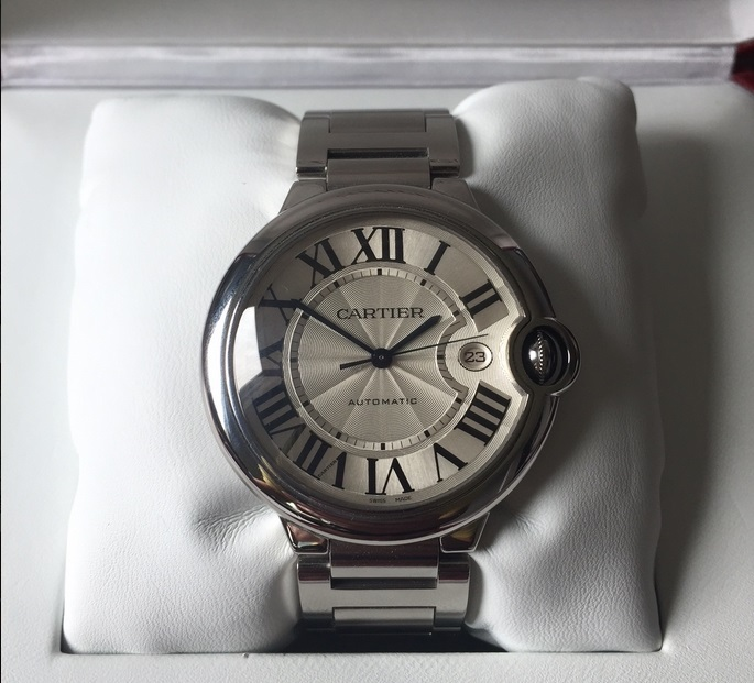 Replique Montre Cartier Ballon Bleu 42mm Large W69012Z4