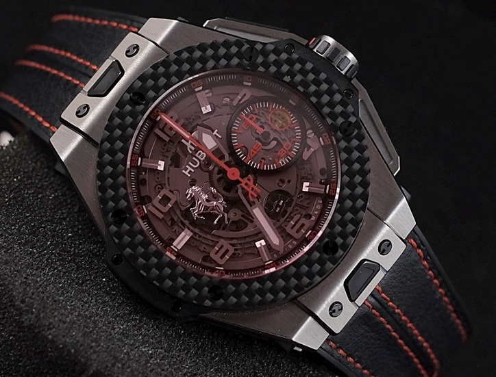Replique Montre Hublot Big Bang Ferrari Titane Carbon Pas Cher