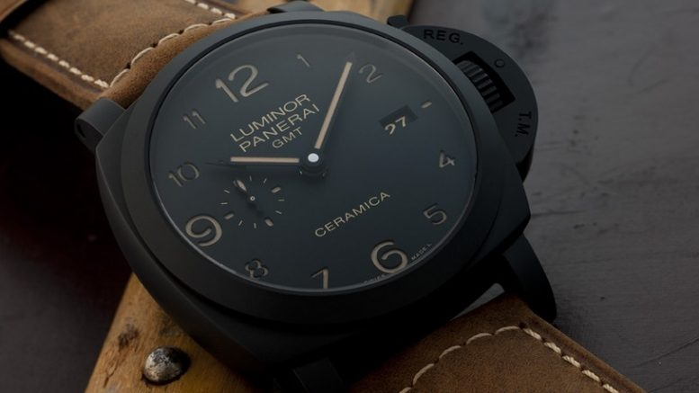 Replique Montre Panerai Luminor 1950 3 Days GMT Automatic Ceramica PAM00441