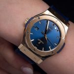 Replique Montre Hublot Classic Fusion King Gold Bleu