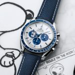 Replique Montre Omega Speedmaster Silver Snoopy Award 50th Anniversary